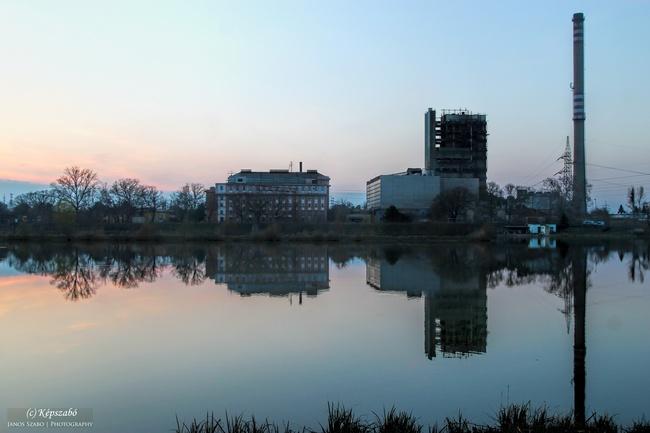 Bánhidai erőmű és a horgásztó Tatabánya
